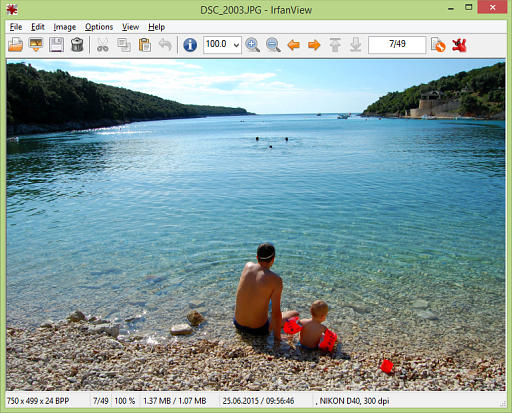 IrfanView freeware screenshot
