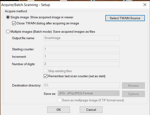 How to scan images using IrfanView